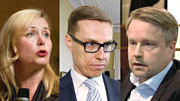 0806 bilderberg Leena Mörttinen, Alexander Stubb sekä Matti Apunen-
