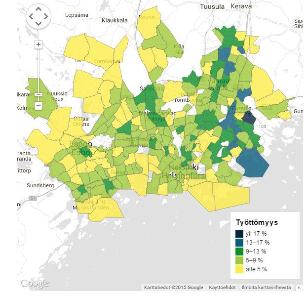 Metropolin lähiöt karkaavat kauas toisistaan raha asuu Kuusisaaressa, työttömyys Länsimäessä Yle Uutiset yle.fi - Google Chrome 24.6.2015 150225