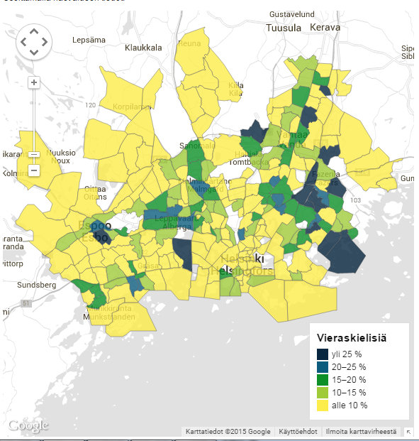 Metropolin lähiöt karkaavat kauas toisistaan raha asuu Kuusisaaressa, työttömyys Länsimäessä Yle Uutiset yle.fi - Google Chrome 24.6.2015 150313