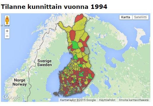 Kartta paljastaa karun totuuden - Yhä useammassa kunnassa kuolee enemmän ihmisiä kuin syntyy - Google Chrome 10.8.2015 140847