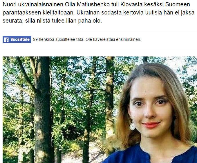 Ukrainalaisnainen opiskelee suomea paremman elämän toivossa Yle Uutiset yle.fi - Google Chrome 26.8.2015 193837