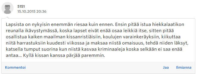 Miksi naiset eivät enää halua lapsia - Sinkut - Suomi24 Keskustelut - Google Chrome 22.10.2015 171821