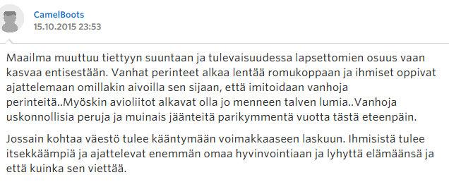 Miksi naiset eivät enää halua lapsia - Sinkut - Suomi24 Keskustelut - Google Chrome 22.10.2015 172253