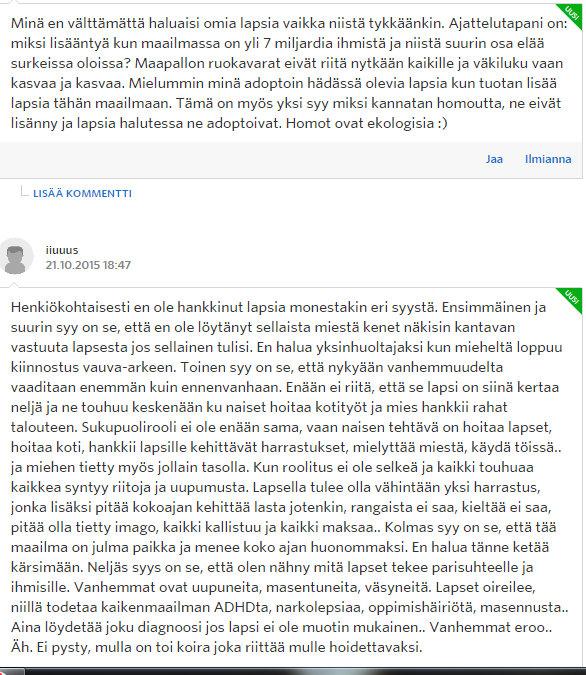 Miksi naiset eivät enää halua lapsia - Sinkut - Suomi24 Keskustelut - Google Chrome 22.10.2015 172646