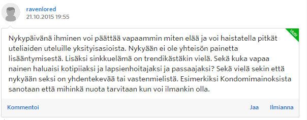 Miksi naiset eivät enää halua lapsia - Sinkut - Suomi24 Keskustelut - Google Chrome 22.10.2015 172728
