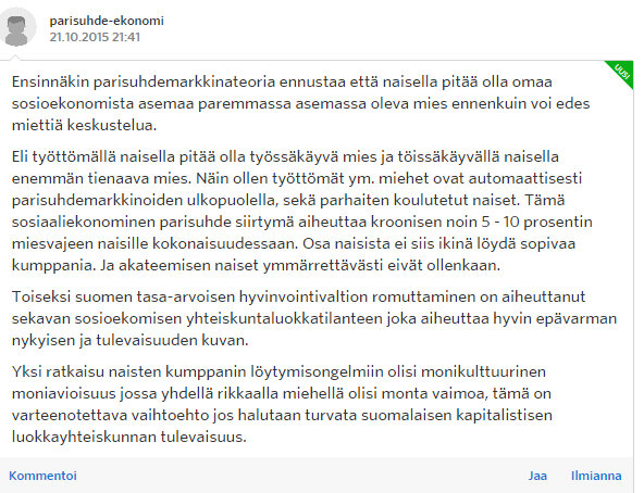 Miksi naiset eivät enää halua lapsia - Sinkut - Suomi24 Keskustelut - Google Chrome 22.10.2015 172823