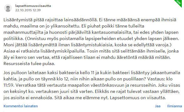 Miksi naiset eivät enää halua lapsia - Sinkut - Suomi24 Keskustelut - Google Chrome 22.10.2015 172940
