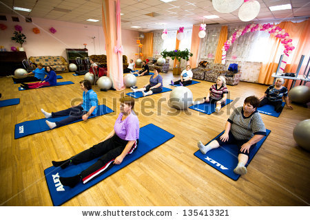 stock-photo-podporozhye-russia-oct-fitness-training-for-elderly-and-disabled-in-program-day-of-health-in-135413321