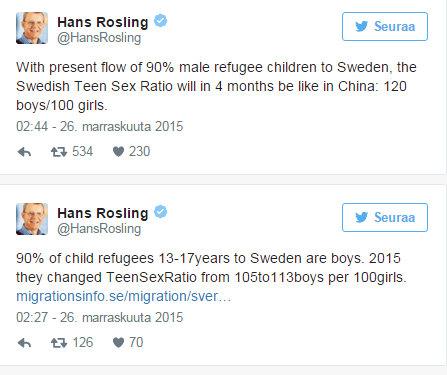 Vakava varoitus pakolaistulvasta Ruotsin väestön sukupuolijakauma kohta sama kuin Kiinassa - Ulkomaat - Verkkouutiset - Google Chrome 28.11.2015 142536